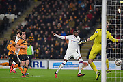 GOAL - Fikayo Tomori (29) of Chelsea FC heads the ball and SCORES during the The FA Cup match between Hull City and Chelsea at the KCOM Stadium, Kingston upon Hull, England on 25 January 2020.