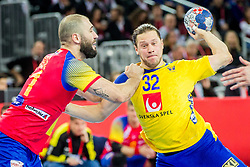 Mattias Zachrisson (SWE) during handball match between National teams of Spain and Sweden in Final match of Men's EHF EURO 2018, on January 28, 2018 in Arena Zagreb, Zagreb, Croatia . Photo by Ziga Zupan / Sportida