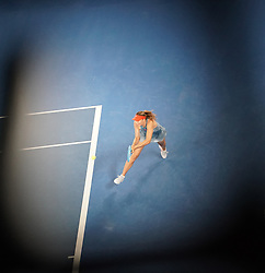 MELBOURNE, Jan. 18, 2019  SP)AUSTRALIA-MELBOURNE-TENNIS-2019 AUSTRALIAN OPEN-DAY 5.    Maria Sharapova of Russia competes.    during the women's third round match between Maria Sharapova of Russia and Caroline Wozniacki of Denmark at the 2019 Australian Open in Melbourne, Australia, Jan. 18, 2019. (Credit Image: © Bai Xuefei/Xinhua via ZUMA Wire)