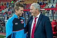 ALKMAAR - 24-09-2016, AZ - Go Ahead Eagles, AFAS Stadion, AZ speler Robert Muhren, GA Eagles-trainer Hans de Koning