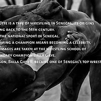 Training session at the Balla Gaye wrestling school. Baala gaye was the old chamion, Balla Gaye 2, his son is the current champion