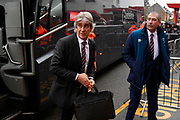 West Ham Utd manager Manuel Pellegrini gets off the team bus on arrival at the Vitality Stadium before the Premier League match between Bournemouth and West Ham United at the Vitality Stadium, Bournemouth, England on 19 January 2019.