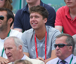 LONDON, ENGLAND - Friday, July 1, 2011: Oliver Golding (GBR) watches during the Boys' Singles Semi-Final match on day eleven of the Wimbledon Lawn Tennis Championships at the All England Lawn Tennis and Croquet Club. (Pic by David Rawcliffe/Propaganda)