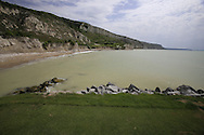 The view from the 9th tee box at the Thracian Cliffs Golf & Beach Resort, Kavarna, Bulgaria, 18th May 2013..Picture: Eoin Clarke www.golffile.ie.