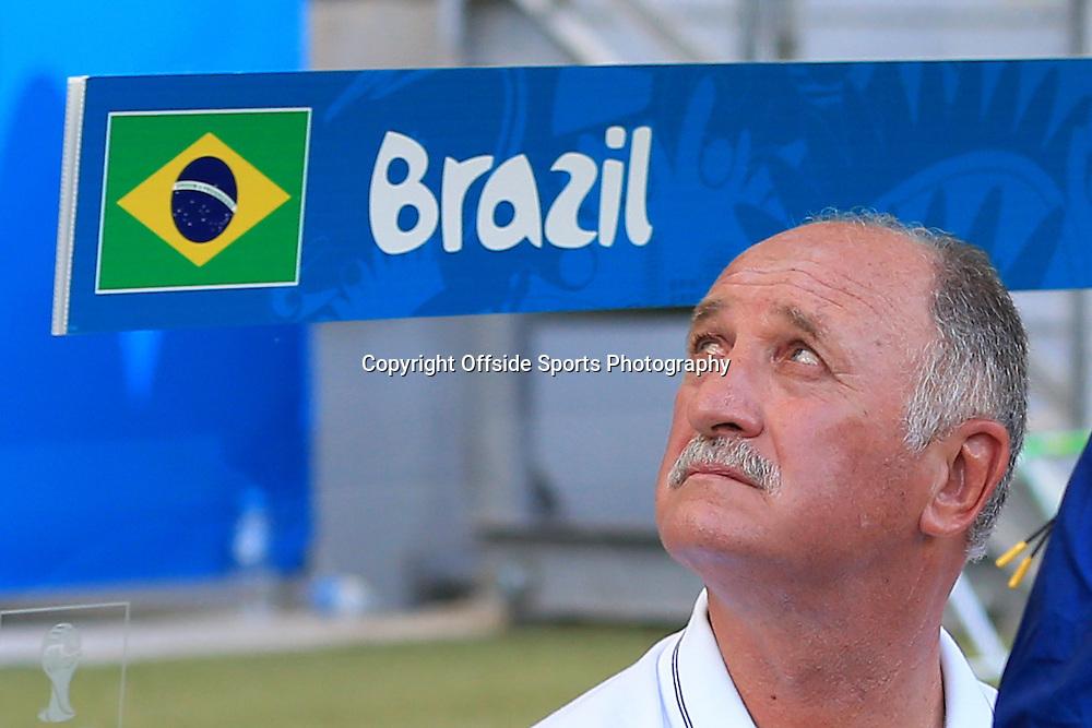 28th June 2014 - FIFA World Cup - Round of 16 - Brazil v Chile - Brazil coach Luiz Felipe Scolari - Photo: Simon Stacpoole / Offside.