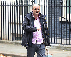 © Licensed to London News Pictures. 29/10/2019. London, UK. Dominic Cummings leaves Downing Street with Boris Johnson who will call for a general election on the 12 of December. As Jeremy Corbyn finally gives his backing for an election to take place before Christmas. Photo credit: Alex Lentati/LNP