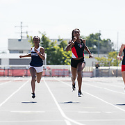 23 March 2018:  Jalyn Harris competes in the 200 meter dash open event Friday afternoon at the 40th Annual Aztec Invitational.<br /> More game action at sdsuaztecphotos.com