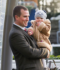 DEC 20 2013 Peter and Autumn Phillips attend the Christmas meeting at Ascot