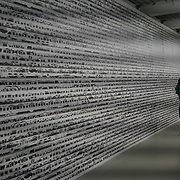 Chinese artist Al Weiwei showcases 'Odyssey 2016' at Everything at once showcases at  The Studios, 180 The Strand on 8th Dec 2017, London, UK.