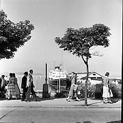 View of Dun Laoghaire ferry port, Co. Dublin.16/06/1957, Dun Laoghaire Harbour,