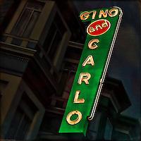 Retro classic neon sign in USA