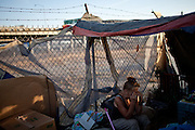 Vickie Stanphill has been homeless for over two months in Fresno, Calif., September 20, 2012.