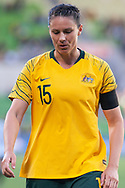 MELBOURNE, VIC - MARCH 06: Emily Gielnik (15) of Australia looks on during The Cup of Nations womens soccer match between Australia and Argentina on March 06, 2019 at AAMI Park, VIC. (Photo by Speed Media/Icon Sportswire)