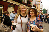 Kerry Cassidy, Westmeath Niamh Oliver Mayo at Murphy's Bar for Arthur's day  Galway 2011 celebrating Guinness . Photo:Andrew Downes.
