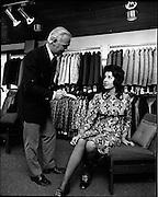 17/08/1971<br /> 08/17/1971<br /> 17 August 1971<br /> Mr Leslie Vard and model at Doreen Dublin Ltd.