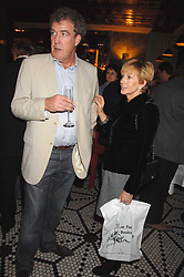 JEREMY CLARKSON and ANNE ROBINSON at a party to celebrate the publication of Table Talk by A  A Gill held at Luciano, 72-73 St.James's, London on 22nd October 2007.<br />