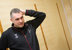 Boris Denic, head coach at training camp of Slovenian Handball National team before World Cup 2013 in Spain, on December 28, 2012 in Hotel Dobrava, Zrece, Slovenia. (Photo By Vid Ponikvar / Sportida.com)