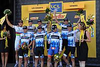 Sykkel<br /> Tour de France 2011<br /> 03.07.2011<br /> Foto: PhotoNews/Digitalsport<br /> NORWAY ONLY<br /> <br /> 2nd stage / ploegentijdrit / contre-la-montre par equipe / team time-trial / Les Essart / team Garmin - Cervelo <br /> <br /> THOR HUSHOVD (TEAM GARMIN - CERVELO - NOR)