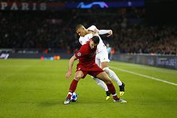 November 28, 2018 - Paris, France - Kylian Mbappe ( PSG ) vs Roberto Firmino  (Credit Image: © Panoramic via ZUMA Press)