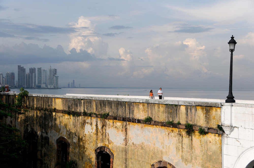 view to Panama City from Casco Antiguo, Historic Town, Panama City, Panama, Central America