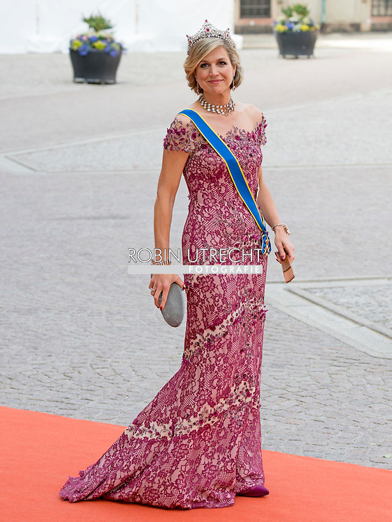 13-6-2015 STOCKHOLM  Arrival of Queen Maxima  from the Netherlands  for  The wedding of Prince Carl Philip and Sofia Hellqvist  at the  Royal palace in Stockholm .COPYRIGHT ROBIN UTRECHT