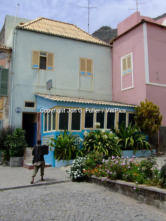 A restaurant in Ribeira Grande, Santo Antao, Republic of Cabo Verde, Africa.