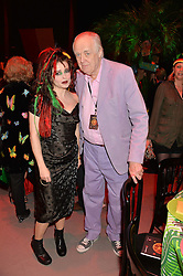 HELENA BONHAM-CARTER and SIR TIM RICE at A Night of Reggae in aid of Save The Children held at The Roundhouse, Chalk Farm Road, London NW1 on 12th March 2014.