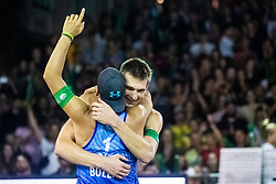 Blaz Jakopin and Tadej Bozenk of Slovenia at Beach Volleyball Challenge Ljubljana 2019, on August 4, 2019 in Kongresni trg, Ljubljana, Slovenia. Photo by Grega Valancic / Sportida