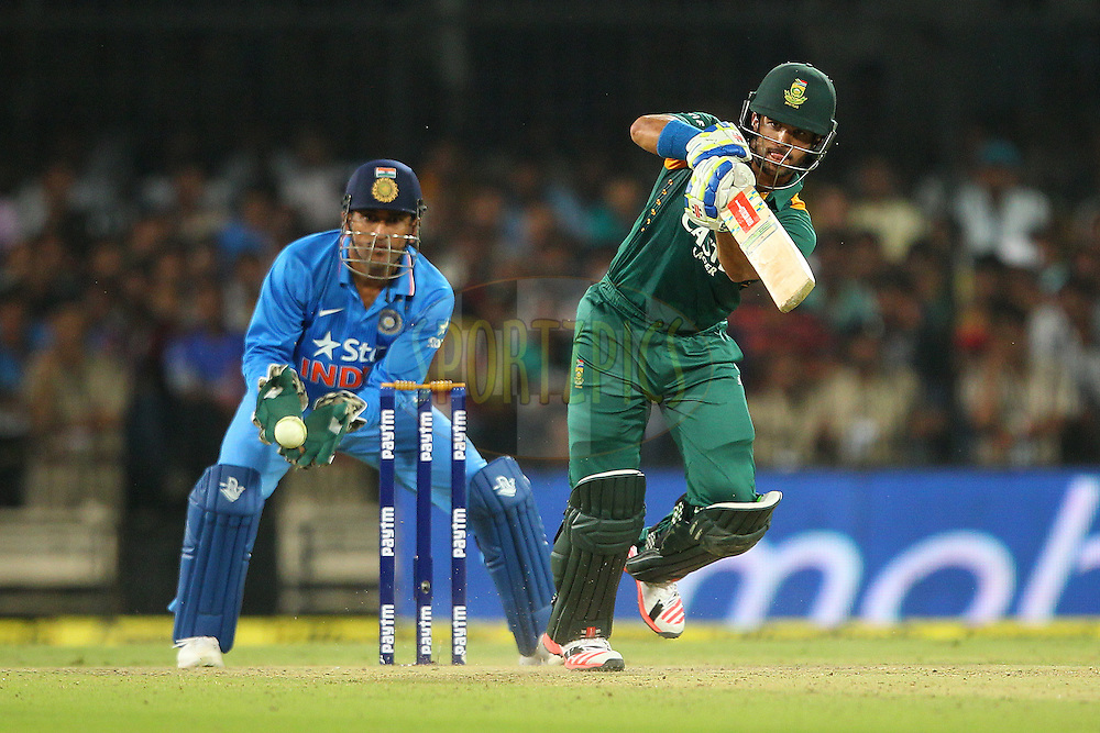 JP Duminy of South Africa   during the 2nd Paytm Freedom Trophy Series One Day International ( ODI ) match between India and South Africa held at the Holkar Stadium in Indore, India on the 14th October 2015<br /> <br /> Photo by Ron Gaunt/ BCCI/ Sportzpics