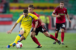 Matija Sirok  of NK Domzale and Amir Abrashi of SC Freiburg during 2nd Leg football match between NK Domzale and FC Freiburg in 3rd Qualifying Round of UEFA Europa League 2017/18, on August 3rd, 2017 in SRC Stozice, Ljubljana, Slovenia. Photo by Urban Urbanc / Sportida