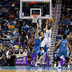 February 1, 2011; New Orleans, LA, USA; New Orleans Hornets point guard Chris Paul (3) shoots against the Washington Wizards during the second half at the New Orleans Arena. The Hornets defeated the Wizards 97-89.  Mandatory Credit: Derick E. Hingle