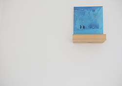 Two local artists have exhibitions at Edinburgh Palette, Meadowbank that are on until Sunday October 16th. Pictured: Between Two Moons by Mark Haddon<br /> <br /> <br /> &copy; Jon Davey/ EEm