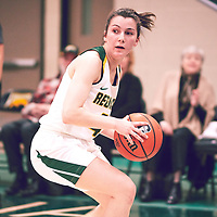 4th year guard, Avery Pearce (4) of the Regina Cougars during the Women's Basketball Home Game on Thu Feb 14 at Centre for Kinesiology,Health and Sport. Credit: Arthur Ward/Arthur Images