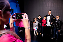 Rudi Požeg Vancaš of Celje posing with young fans as Best player of the year during SPINS XI Nogometna Gala 2019 event when presented best football players of Prva liga Telekom Slovenije in season 2018/19, on May 19, 2019 in Slovene National Theatre Opera and Ballet Ljubljana, Slovenia. Photo by Vid Ponikvar / Sportida