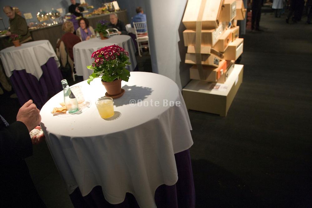 bar corner at an indoor design event