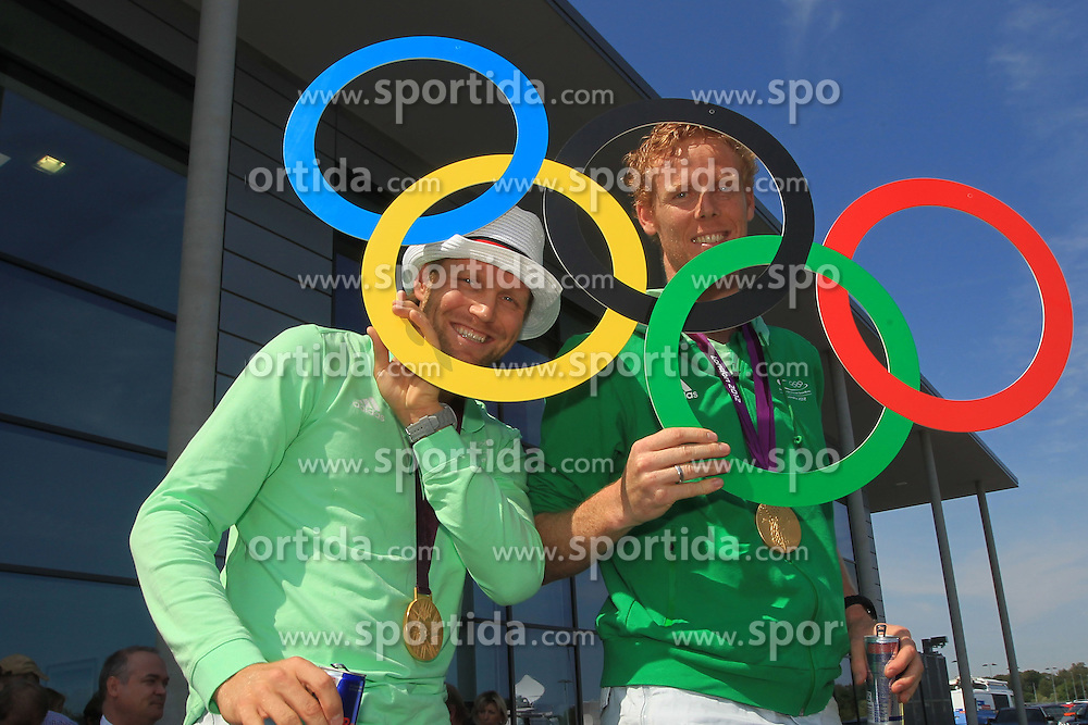 Beachvolleyball, Arrival of the Germany's Beach Volleyball gold medal winners  Julius Brink and Jonas Reckermann in Cologne<br /> &Atilde;&macr;&Acirc;&iquest;&Acirc;&frac12; pixathlon