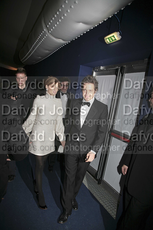 Jemima Khan and Hugh Grant, British Red Cross Ball, Waterloo. London. 16 November 2006.  TIME USE ONLY - DO NOT ARCHIVE  © Copyright Photograph by Dafydd Jones 66 Stockwell Park Rd. London SW9 0DA Tel 020 7733 0108 www.dafjones.com
