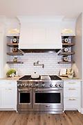 A modern farmhouse kitchen stove. Photo by Brandon Alms Photography