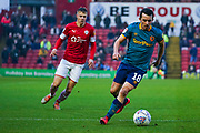 Hull City midfielder George Honeyman (18) in action during the EFL Sky Bet Championship match between Barnsley and Hull City at Oakwell, Barnsley, England on 30 November 2019.