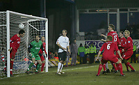 STEPHEN FINNAN CLEARS FOR LIVERPOOL OF THE LINE.PIC BY KIERAN GALVIN / COLORSPORT