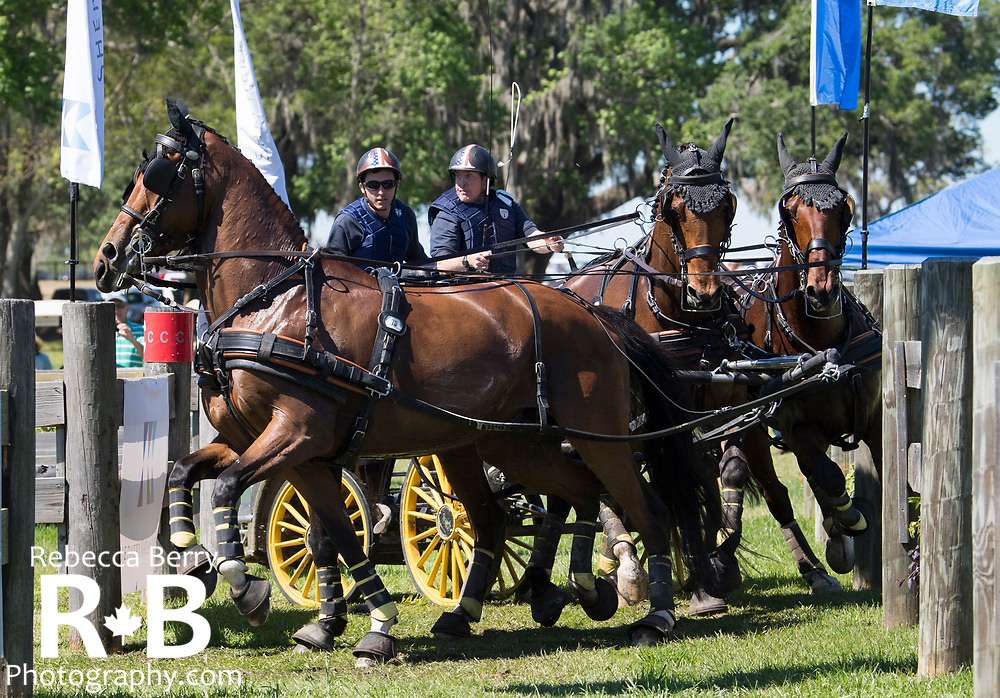 James Fairclough (USA) and his team during the marathon at Live Oak International - Ocala, Florida - March 17, 2018 - Rebecca Berry