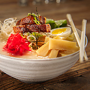 Dragonfly Sushi serves this amazing ramen bowl in Orlando, Florida.  Photography by Jeffrey A McDonald
