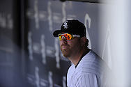 CHICAGO - JUNE 12:  Adam Dunn #32 of the Chicago White Sox looks on against the Oakland Athletics on June 12, 2011 at U.S. Cellular Field in Chicago, Illinois.  The White Sox defeated the Athletics 5-4.  (Photo by Ron Vesely)   Subject:  Adam Dunn