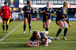 Taz Bricknell of Worcester Warriors Women scores a try but it is disallowed for a knock on - Mandatory by-line: Robbie Stephenson/JMP - 01/12/2019 - RUGBY - Sixways Stadium - Worcester, England - Worcester Warriors Women v Bristol Bears Women - Tyrrells Premier 15s