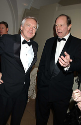 Left to right, DAVID DAVIS MP and SIR ARCHIE HAMILTON at a dinner attended by the Conservative leader Michael Howard and David Davis and David Cameron held at the Banqueting Hall, Whitehall, London on 29th November 2005.<br /><br />NON EXCLUSIVE - WORLD RIGHTS