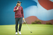 Tommy Fleetwood of England waves to the fans after finishing his round during the British Masters 2018 at Walton Heath Golf Course, Walton On the Hill, Surrey  on 11 October 2018. Picture by Martin Cole.