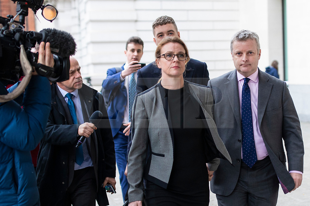 © Licensed to London News Pictures. 22/03/2019. London, UK. Conservative MP Christopher Davies (R) leaves Westminster Magistrates Court where he entered a guilty plea to two charges relating to expenses claims. Photo credit: Rob Pinney/LNP