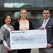 10.03.2017<br /> UL, Kemmy Business School Cheque presentations to Pieta House and Temple Street Childrens Hospital.<br /> Pictured are left to right, Annette Cahill, Pieta House, Elisabeth Small, Accounting Rep and Romain Fachero, Economics Dept Rep. Picture: Alan Place