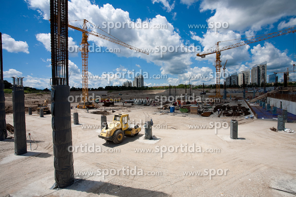 Building of a new football stadium and sports arena in Stozice, on June 12, 2009, in Stozice, Ljubljana, Slovenia.  (Photo by Vid Ponikvar / Sportida)