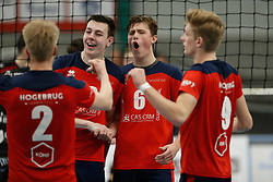 20181124 NED: Volleyball Top League ZVH - VCV: Zevenhuizen<br />Benjamin Parkinson (10) of CAS CRM ZVH, Bram Wiltenburg (6) of CAS CRM ZVH<br />©2018-FotoHoogendoorn.nl / Pim Waslander